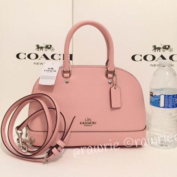 d3d2e59546b3 SALE New Coach Mini Sierra Domed Satchel Blush